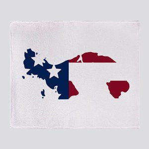 Panamanian American Throw Blanket