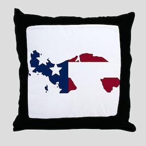 Panamanian American Throw Pillow
