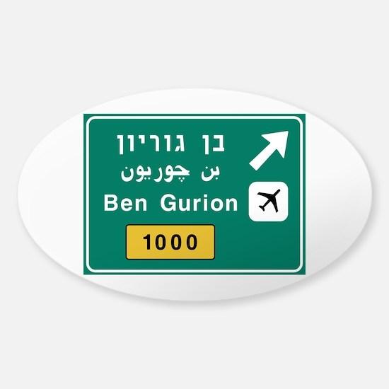 Ben Gurion Airport, Tel Aviv, Israe Sticker (Oval)