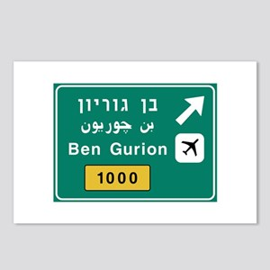 Ben Gurion Airport, Tel A Postcards (Package of 8)