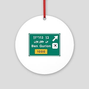 Ben Gurion Airport, Tel Aviv, Israe Round Ornament