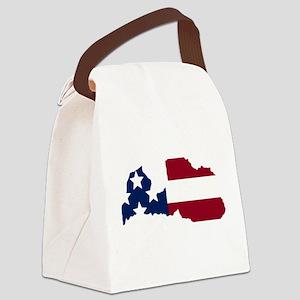 Latvian American Canvas Lunch Bag