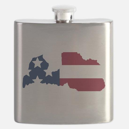 Latvian American Flask