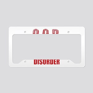 obsessive christmas disorder License Plate Holder