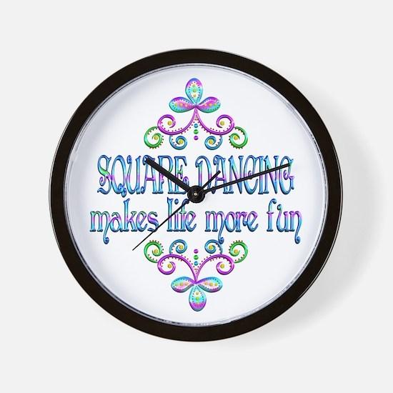Square Dancing Fun Wall Clock