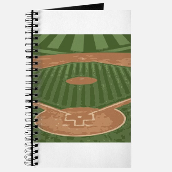 View From Home Plate Baseball Diamond Art Journal