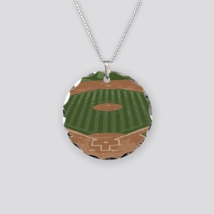 View From Home Plate Baseball Diamond Art Necklace