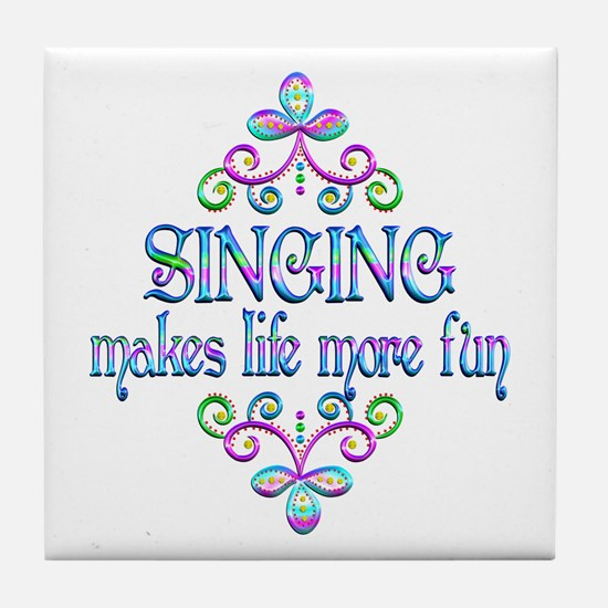 Singing Fun Tile Coaster