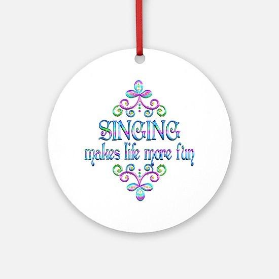 Singing Fun Round Ornament