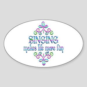 Singing Fun Sticker (Oval)