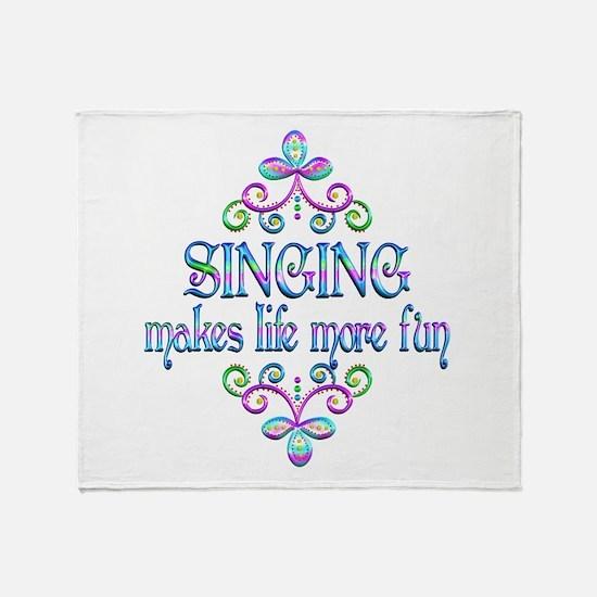 Singing Fun Throw Blanket
