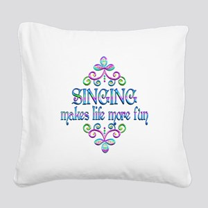 Singing Fun Square Canvas Pillow
