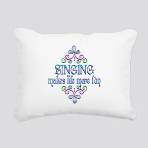 Singing Fun Rectangular Canvas Pillow