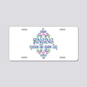 Singing Fun Aluminum License Plate
