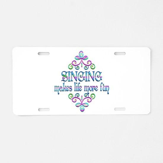 Singing Fun Aluminum License Plate