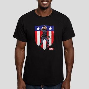 Agent Carter Standing Men's Fitted T-Shirt (dark)