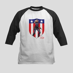Agent Carter Standing Kids Baseball Jersey
