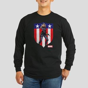 Agent Carter Standing Long Sleeve Dark T-Shirt