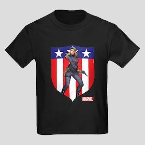 Agent Carter Standing Kids Dark T-Shirt
