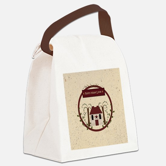 Faith Hope Love Canvas Lunch Bag