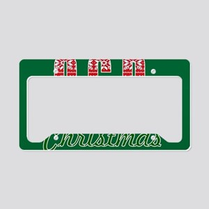 OCD obsessive christmas disor License Plate Holder