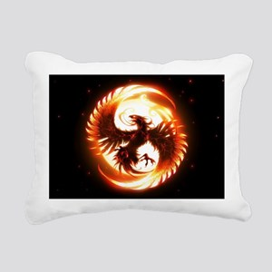 Phoenix Bird Rectangular Canvas Pillow