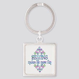 Sewing Fun Square Keychain