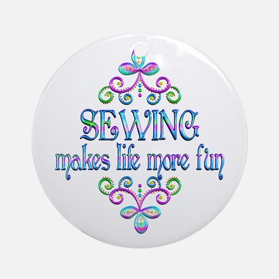 Sewing Fun Round Ornament