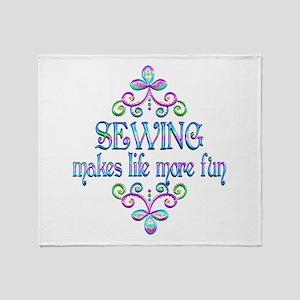 Sewing Fun Throw Blanket