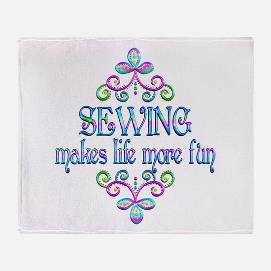 Sewing Fun Throw Blanket