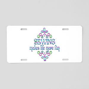 Sewing Fun Aluminum License Plate