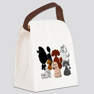 TINY POODLE PACK COLLAGE Canvas Lunch Bag