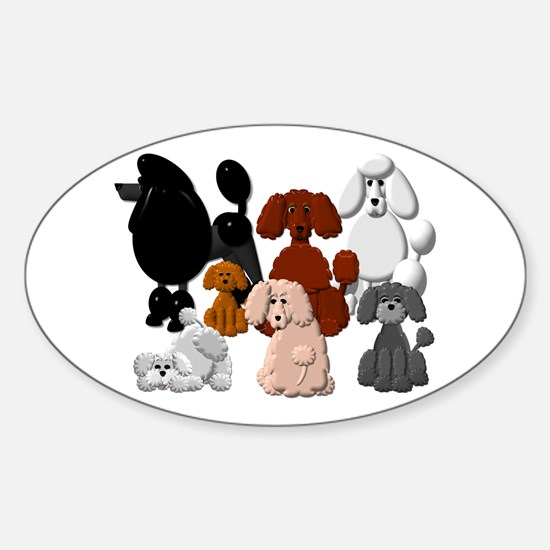 Tiny Poodle Pack Collage Decal