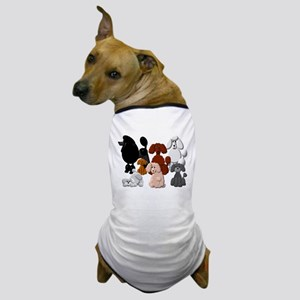TINY POODLE PACK COLLAGE Dog T-Shirt