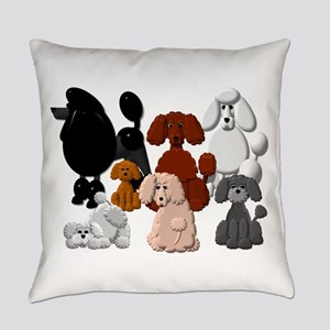 Tiny Poodle Pack Collage Everyday Pillow