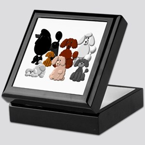 Tiny Poodle Pack Collage Keepsake Box