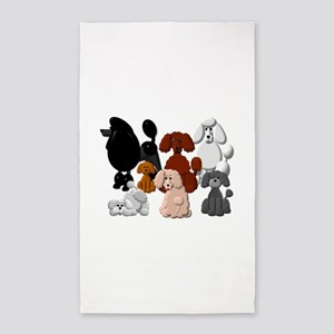 TINY POODLE PACK COLLAGE Area Rug