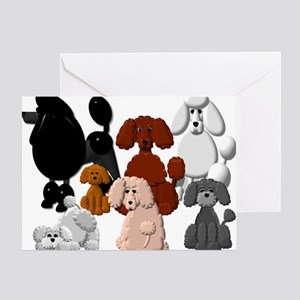 Tiny Poodle Pack Collage Greeting Cards
