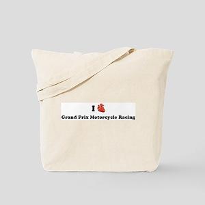 I (Heart) Grand Prix Motorcyc Tote Bag
