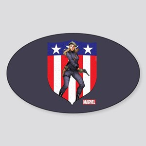 Agent Carter Standing Sticker (Oval)