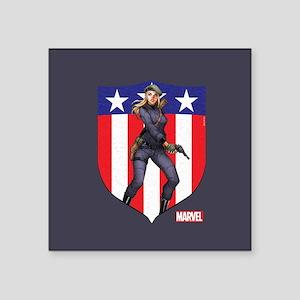 "Agent Carter Standing Square Sticker 3"" x 3"""