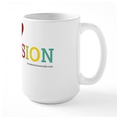 I Heart Inclusion Large Mugs