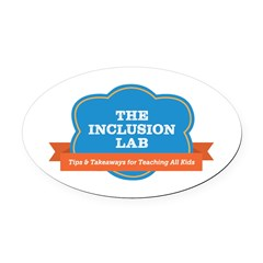 The Inclusion Lab Oval Car Magnet