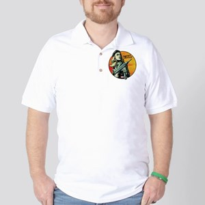 Agent Carter Machine Gun Golf Shirt