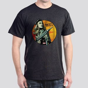Agent Carter Machine Gun Dark T-Shirt