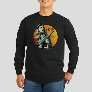 Agent Carter Machine Gun Long Sleeve Dark T-Shirt