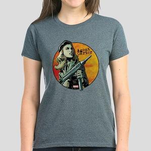 Agent Carter Machine Gun Women's Dark T-Shirt