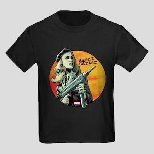 Agent Carter Machine Gun Kids Dark T-Shirt