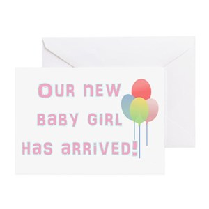 Welcome new baby greeting cards cafepress m4hsunfo