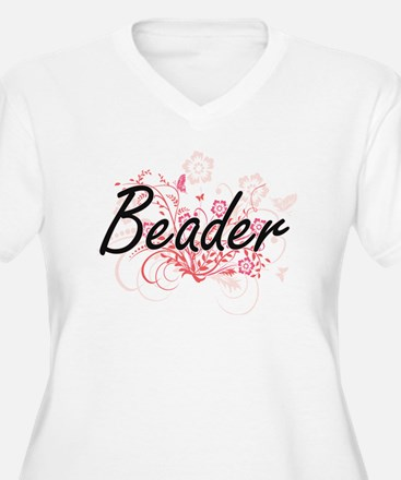 Beader Artistic Job Design with Plus Size T-Shirt